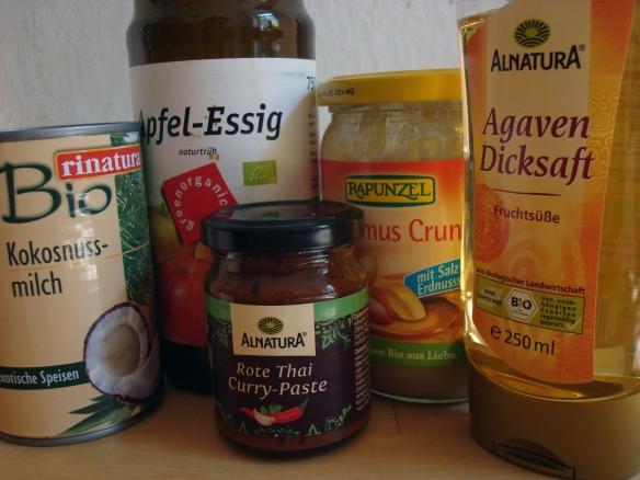 zutaten peanut sauce